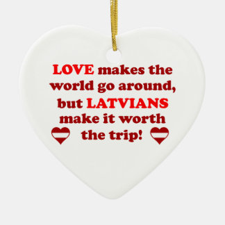 Latvian Love Ceramic Heart Decoration