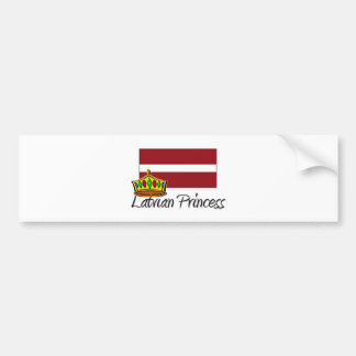 Latvian Princess Bumper Sticker