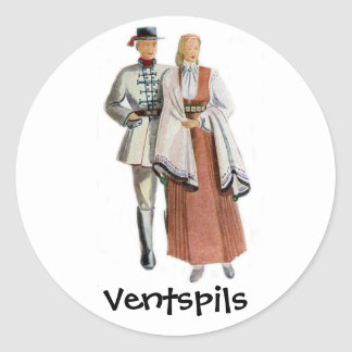 Latvian regional costume sticker