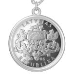 Latvian silver jewellery with Lats Round Pendant Necklace