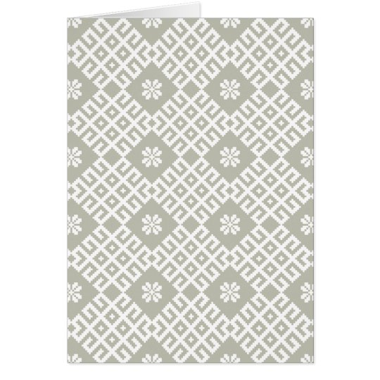 Latvian traditional pattern design card