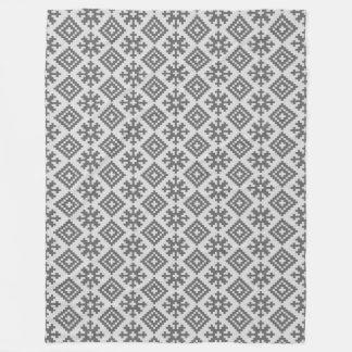 Latvian traditional pattern design fleece blanket