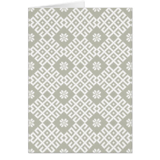Latvian traditional pattern design greeting card
