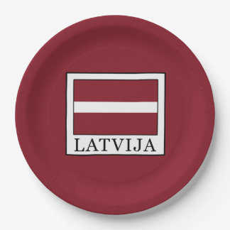 Latvija Paper Plate