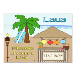 Laua / Tiki Party Invitations