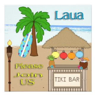 Laua Tiki Party Invitations