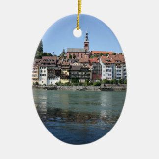 Laufenburg, Switzerland, view towards Germany Christmas Ornament