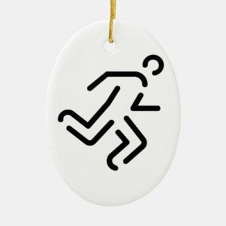 laufender Mann running man Ornamente