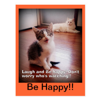 Laugh and Be happy Postcard