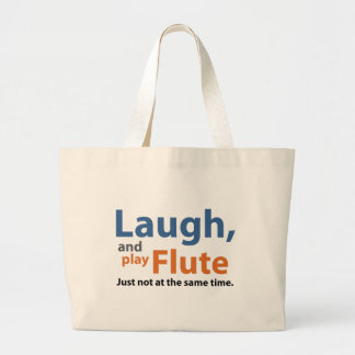 Laugh and Play Flute Large Tote Bag
