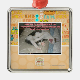 Laugh and the world laughs with you christmas ornament