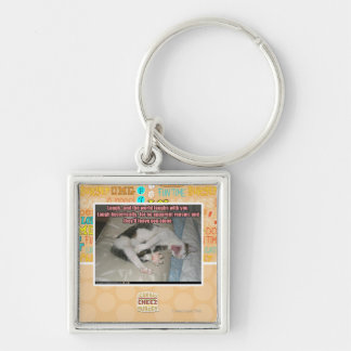 Laugh and the world laughs with you key ring