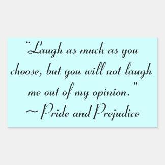 Laugh as Much as You Choose Jane Austen Rectangular Sticker