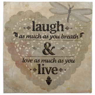 Laugh As Much AsYou Breathe Mindfulness Quote Gift Napkin