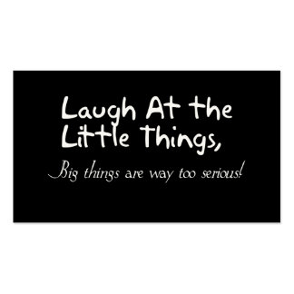Laugh At The Little Things, Motivational Saying Pack Of Standard Business Cards