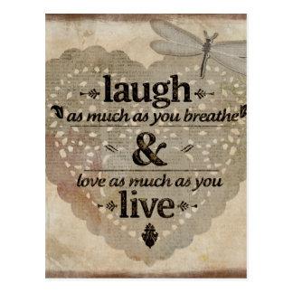 Laugh, Love, Live Postcard