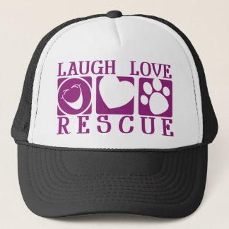 Laugh Love Rescue Trucker Hat