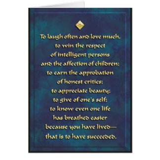Laugh often... card