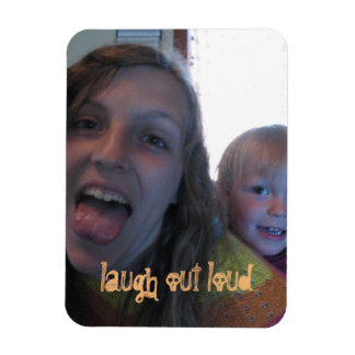 laugh out loud rectangular photo magnet