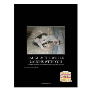 Laugh & The World Laughs With You Postcard