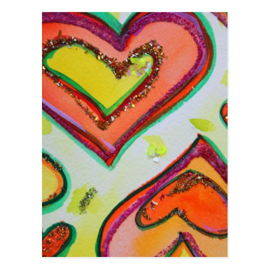Laugh Two Hearts Postcard