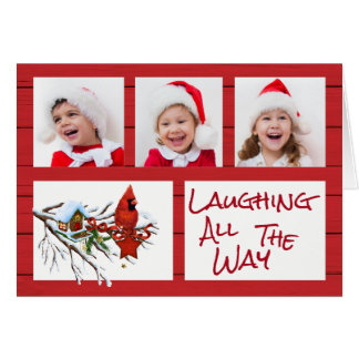 Laughing All the Way Photo Christmas Card