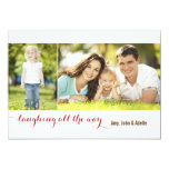 Laughing all the Way Sage 2 Photo Holiday Card Personalized Announcements