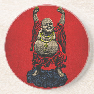 Laughing Buddha (4 color) Sandstone Coaster