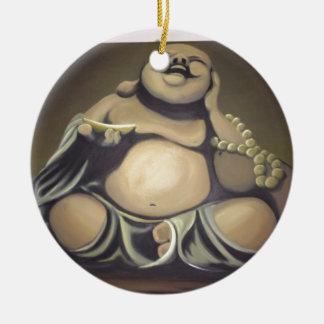 Laughing Buddha Christmas Ornament