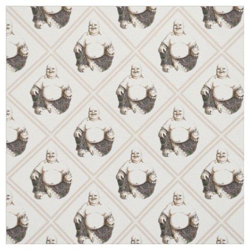 Laughing Buddha diamond pattern Fabric