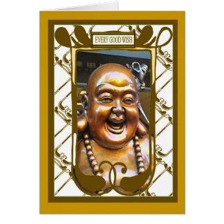 Laughing Buddha  , Every good wish Card