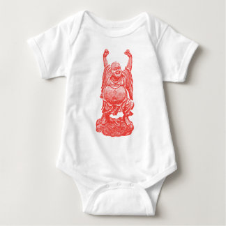 Laughing Buddha (red) Baby Bodysuit