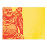 Laughing Buddha (red) Post Card