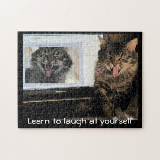 Laughing Cat Laughs at Himself Puzzle