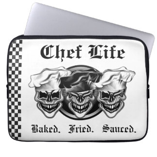 Laughing Chef Skulls Computer Sleeve