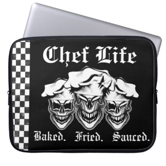Laughing Chef Skulls Laptop Computer Sleeves