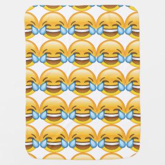 Laughing Crying Tears of Joy emoji Baby Blanket