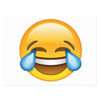 Laughing Crying Tears of Joy emoji Postcard