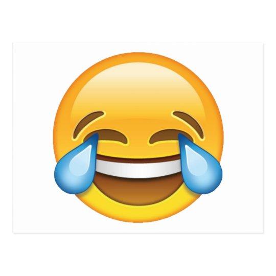 Laughing Crying Tears of Joy emoji Postcard