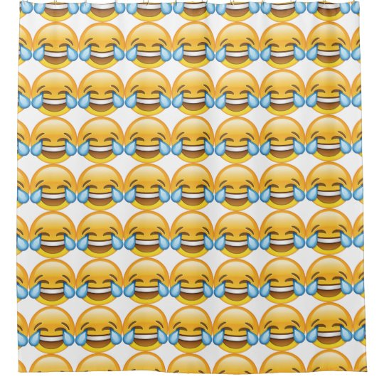 Laughing Crying Tears Of Joy Emoji Shower Curtain