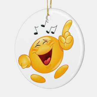 Laughing Dancing Smile Fist Bump Christmas Ornament