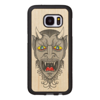 Laughing Demon Illustration Wood Samsung Galaxy S7 Case