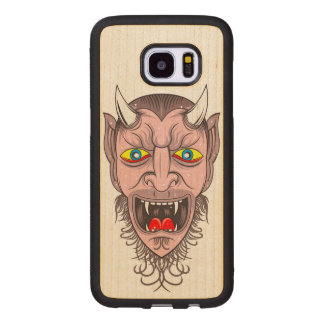 Laughing Demon Illustration Wood Samsung Galaxy S7 Edge Case