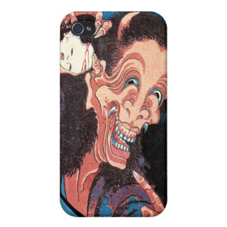 Laughing Demon Warai-Hannya, Hokusai Cover For iPhone 4