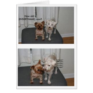 Laughing Dog Birthday Card