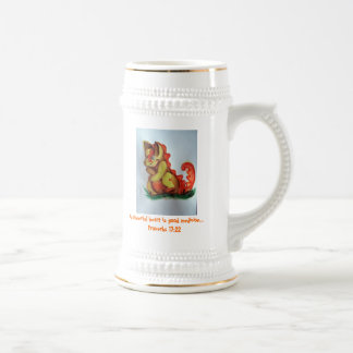 Laughing dragon. beer stein