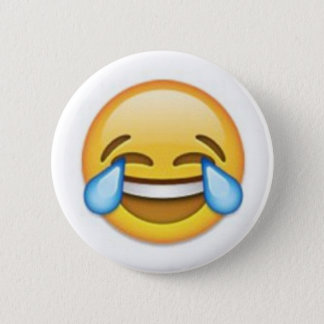Laughing Emoji 6 Cm Round Badge