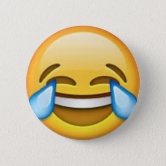 Laughing emoji pin