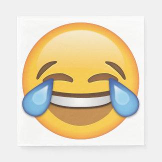 Laughing Emoji Square Napkins (50 napkins) Paper Serviettes
