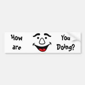 Laughing Face Bumper Sticker